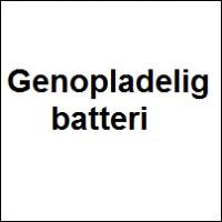 Genopladelig batteri
