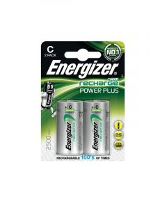 Energizer Recharge Power Plus C / NH35 2500mAh Batterier (2 Stk. Pakning)