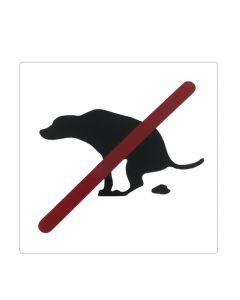 Hundehømhøm forbudt klistermærke 120x120 mm.