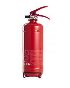 Brandslukker 2 kg stål rød | NOR-TEC