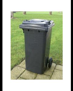 Affaldsbeholder m/ hjul sort 120 ltr