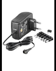 3-12V Universal adapter indendørs strømforsyning Max 1,5A (6 stik)