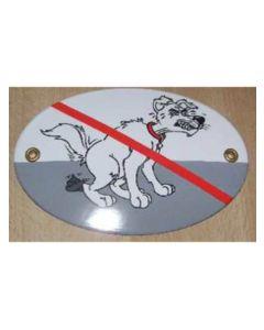 Hundehømhøm forbudt skilt til ophæng