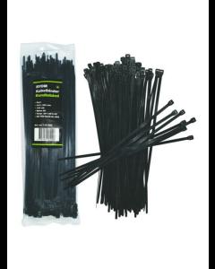 Kabelbinder/strips sort 100 stk. (4,8 X 300 mm)