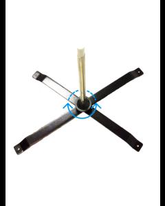 Krydsfod med roterende monteringsbeslag
