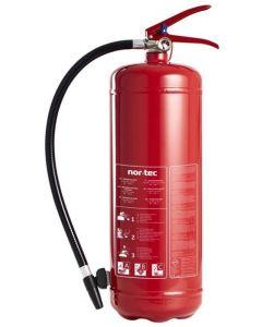 Ildslukker 6kg stål rød | NOR-TEC