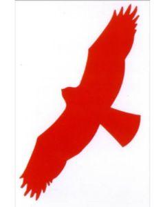 skræmmefugle rød 25 cm til vinduerne