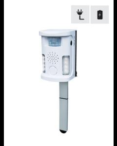 OUTLET Ultralydskræmmer med bevægelsessensor, blitz og alarm
